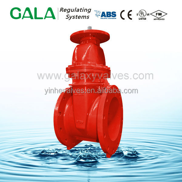 UL listed flanged fire gate valve for fire sprinkler system