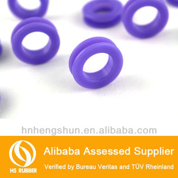 purple small rubber grommet