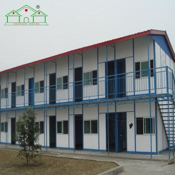 Low cost fast installing two storey labor camp prefabricated buildings