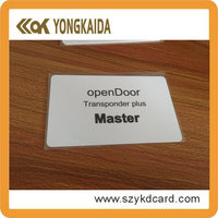 Smart card solutions LF 125Khz rfid hotel key card security systems with free samples