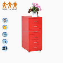 6 drawer tool steel filing cabinet storage with wheels