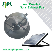 New solar air conditioning equipment metal case rust-proof 14 inch dc motor wall mount exhaust fan