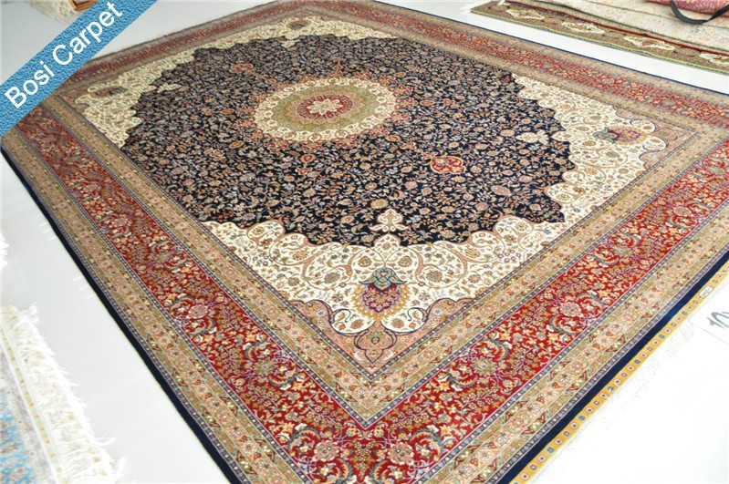 De haute qualit 10 39 x14 39 main fait handknotted tapis de soie persan tapis tapis de - Tapis de gymnastique au sol ...
