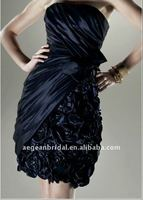 2011 strapless navy blue taffeta cocktail dress manufacturer En2516