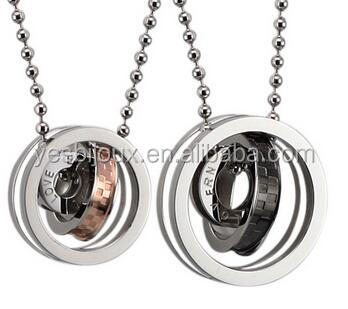 yiwu factory 316L Stainless Necklaces for couple