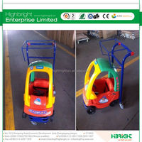 Factory Price Supermarket Baby Car Seat Trolley For Sale