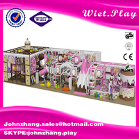 nursery China Supplier Newest big tunnel fiber glass Hot cheap castle playground air to slide
