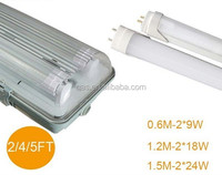 saa c-tick ip65 led vapour proof fitting with pc cover led batten light