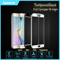 Colorful Full Coverage Tempered Glass Screen Protector For Samsung Galaxy S6 Edge Anti-Scratch 9H 0.33mm for Samsung S6 Edge