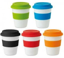 FDA LFGB ROHS Approved Bamboo Fiber Coffee To Go Cup