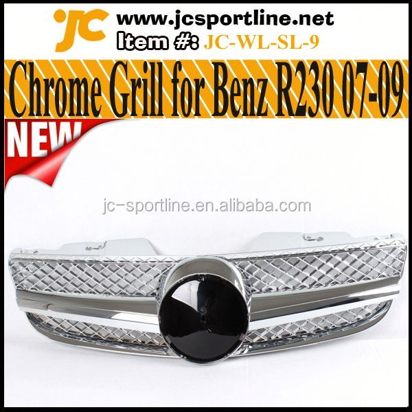 01-06 SL Class R230 Sport Grille ,ALL Chromed Grill For Mercedes Benz R230 SL500 SL600 SL55