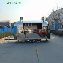 Shining stainless steel mobile food carts for sale