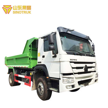 Efficient transportation used china sinotruk howo 4x2 self loading dump truck