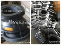 China Hebei Dongjin factory sale high tensile flexible rubber bellows/rubber expansion joints