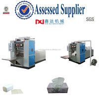 Automatic paper processing embossing folding facial tissue machine plant