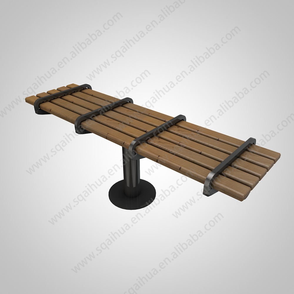 Outdoor stainless steel public bench