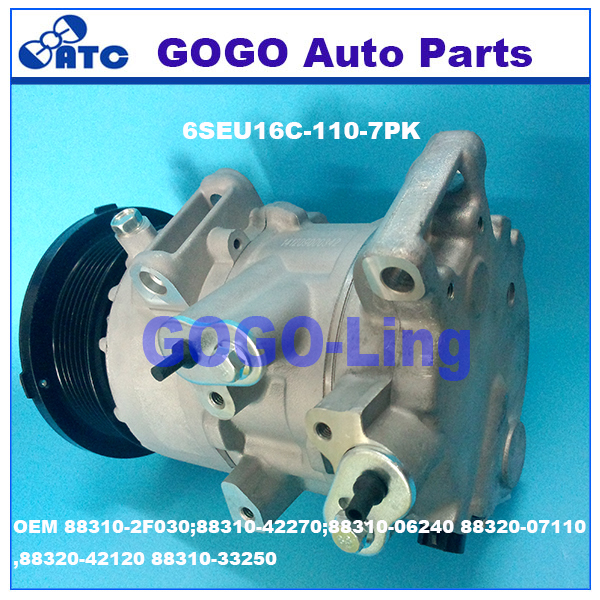 6SEU16C Auto A/<strong>C</strong> Compressor for Toyota Camry RAV4 OEM 88310-2F030;88310-42270;88310-06240 88320-07110,88320-42120 88310-33250 <strong>1</strong>