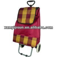Fabric folding shopping cart with wheels