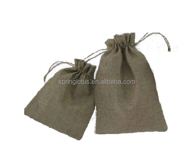 Burlap Sack Drawstring Pouch Bag
