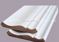 MDF Ceiling Cornice Mouldings Coated with Gypsum