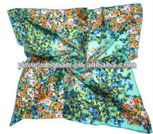 New design major style 100% silk scarf square silk scarf
