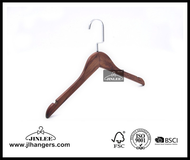 Display Garment Baby Kids Women Wooden Hanger With Notdhes