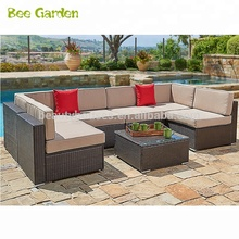 New design wicker patio conversation set cheap rattan furniture