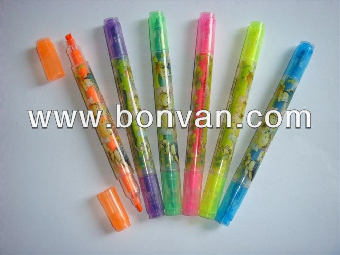 comapny name printed gift novelty highlighter marker