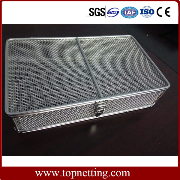 Wire mesh basket/wire mesh sterilization basket/Medical Autoclave Tray