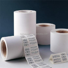 Top coated matt finish waterproof untearable pressure sensitive adhesive label usage PP synthetic paper