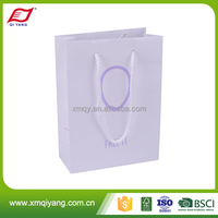 Promotional low price custom paper packaging bag for shopping