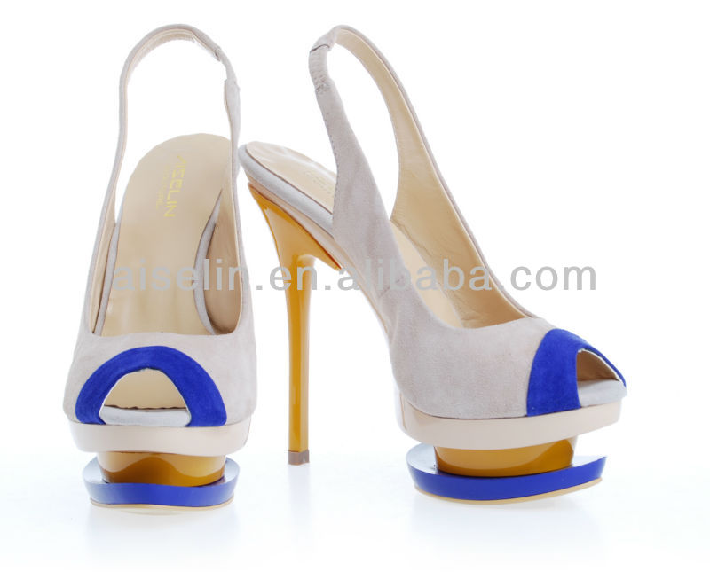 high heel sandals in two color with 2 platform fashion 2013 women shoes