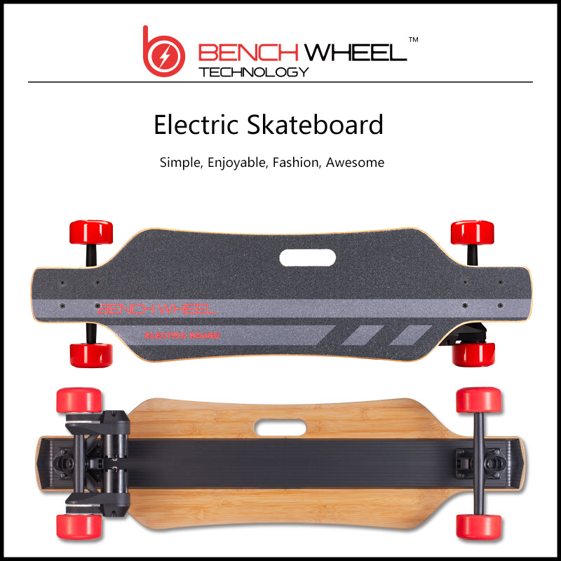 BENCHWHEEL adult sino-wave wireless remote controlled dual-motor drive electric skateboard on-road longboard