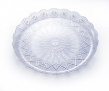 Manufacturer directly supply crystal disposable plastic plate