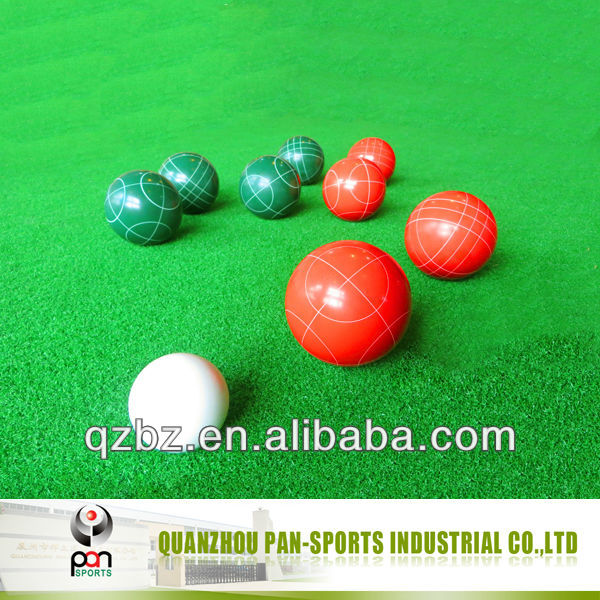Resin bocce ball set / lawn bowls / lawn bowling ball