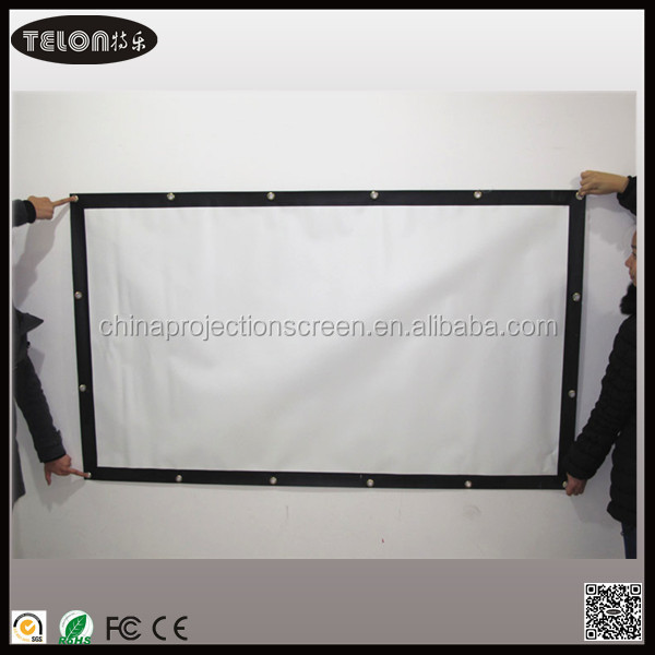 Telon Simple Projector High-definition Screen Portable White Curtain