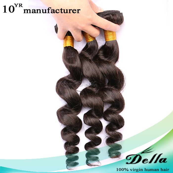 beauty products factory price loose wave virgin human hair fashion loose wave human hair weft