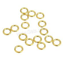 New Machine Cut Stainless Steel Jump Ring gold color 6x1mm jump rings
