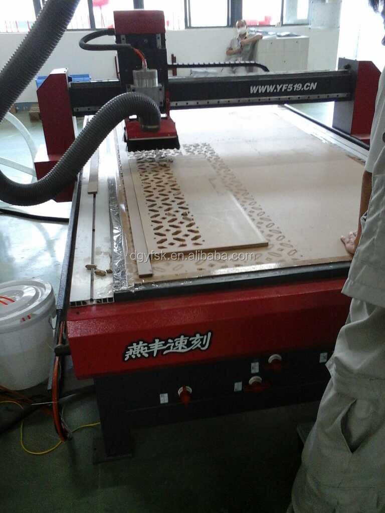 cnc 1300*2500mm woodworking engraving machine with vaccum table