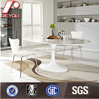 round marble dining table set/marble top dining table