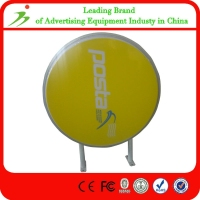 Round Shape Retail Outdoor Illuminated Acrylic Vacuum Signs