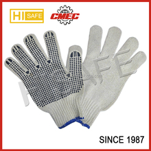 hot colorful cotton gloves with PVC dot industrial use working gloves