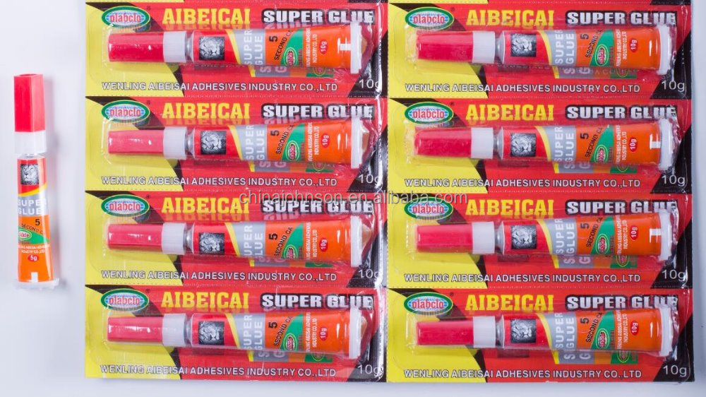 stand-up aluminum tube 10gr super glue fast dry quick bond clear adhesives