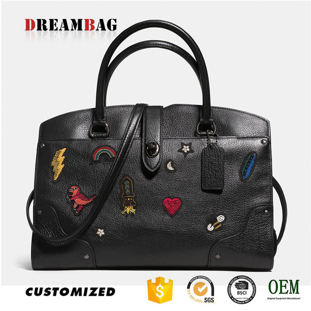 GZ Dreambag OEM grained embroider bags women 2017