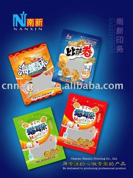 Plastic snack packaging bag 011