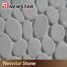 Made in China snow white pebble stone