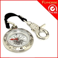 Custom New York Metal Locator Compass Keychain