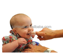 100% food grade baby soft Silicone Finger Toothbrush