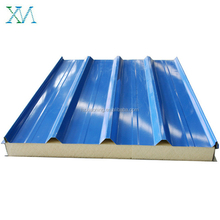 China foctory Fireproof PU polyurethane sandwich wall panel in cheap price