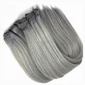 XMH hair brazilian grey human hair sew in weave, grey brazilian hair
